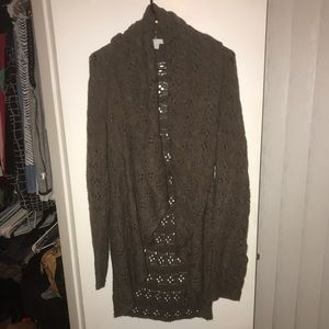 New York & Co Brown Shawl Neck Sweater Size XL